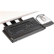 "3M™ Keyboard Tray, AKT180LE, Adjustable, 23"" Track, 19-1/2"" X 10-1/2"", Black"
