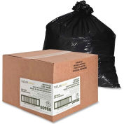 Nature Saver Recycled Medium-Duty Black Trash Liners - 16 Gallon, 0.75 Mil