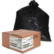 Nature Saver Recycled Heavy-Duty Black Trash Liners - 56 Gallon, 1.25 Mil, 100/Case