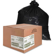 Nature Saver Recycled Heavy-Duty Black Trash Liners - 45 Gallon, 1.65 Mil