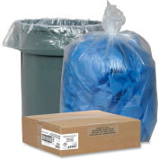 Nature Saver Recycled Clear Trash Can Liners - 45 Gallon, 1.50 Mil