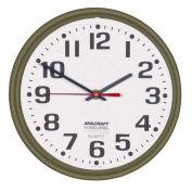 """SKILCRAFT 12"""" Slimline Wall Clock, Bronze"""