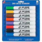 SKILCRAFT Dry Erase 8-Color Assorted Marker - Chisel Marker Point Style - Assorted Ink, 8/Pack