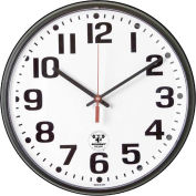 "SKILCRAFT 12"" Atomic Slimline Clock, Black"