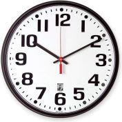 "SKILCRAFT 12.75"" Black Body Selfset Wall Clock, Black"