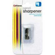 """Officemate® Aluminum Pencil Sharpener, 3/8"""", Metallic Silver"""