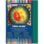 "Pacon® Tru-Ray Sulphite Construction Paper, 12""x9"", Dark Green, 50 Sheets"