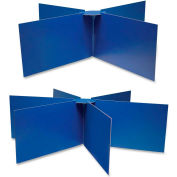 """Pacon Round Table Privacy Board, 48""""x14"""", Blue"""