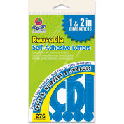 """Pacon® Self Adhesive Letters, 1"""" to 2""""H, 276 Characters, Blue"""
