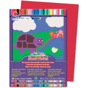 """Pacon® SunWorks Groundwood Construction Paper, 12""""x9"""", Red, 50 Sheets"""