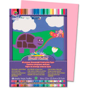 """Pacon® SunWorks Groundwood Construction Paper, 12""""x9"""", Pink, 50 Sheets"""