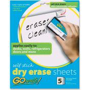 Pacon Adhesive Dry Erase Sheet, 5/Pack
