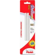 Pentel® Eraser Refill, Nonabrasive, 2/PK, White