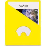 "Pendaflex Essentials Slash Pocket Project Folder, 8-1/2""W x 11""H, Yellow, 25/PK"