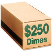 PMC SecurIT Coin Box, PMC61010, $250 Dimes Capacity, 50/Pk