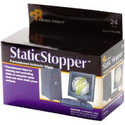 Read Right® Static Stopper Cleaning Wipes, 24/Box - REARR1206