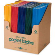 "Roaring Spring® Standard Colors Embossed 2 Pocket Portfolio 9-1/2"" x 11-3/4"", Assorted, 100/Pk"