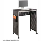 Safco® Products 1908BL Scoot™ Stand-Up Workstation, Black/Silver
