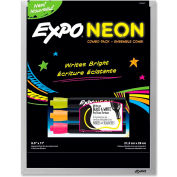 "Expo Dry Erase Board with Neon Marker - Black, 11""W x 8-1/2""H"