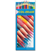 Prismacolor Col-Erase Pencils, Tuscan Red, Terracotta, Blue, Carmine Red Lead, 12/Set