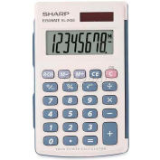 "Sharp® 8-Digit Calculator, EL243SB, W/Cover, 2-1/2"" X 4-1/2"" X 1/2"", White"