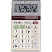 "Sharp® 8-Digit Pocket Calculator, EL244TB, Dual Power, 2-3/8"" X 4-1/8"" X 3/8"""