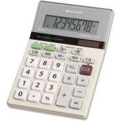 "Sharp® 8-Digit Handheld Calculator, EL330TB, 4"" X 6"" X 1-1/4"", Green/Silver/White"