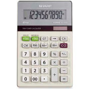 "Sharp® 10-Digit Calculator, EL334TB, Dual Power, 3-1/10"" X 6-1/5"" X 5/8"""