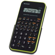 "Sharp® Scientific Calculator, EL501XBGR, 10-Digit, 3-1/4"" X 6"" X 1/2"", Black/Green"