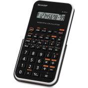 "Sharp® Scientific Calculator, EL501XBWH, 10-Digit, 3-1/4"" X 6 X 1/2"", Black/White"