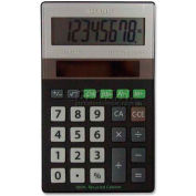 "Sharp® 8-Digit Calculator, ELR277BBK, Solar Power, 2-3/4"" X 4-1/2"" X 1/2"", Black/Silver"