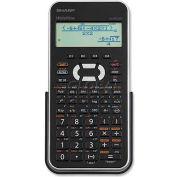 "Sharp® Scientific Calculator, ELW535XBSL, W/4-Line, 3-1/4"" X 6-1/2"" X 1/2"", Black/Silver"