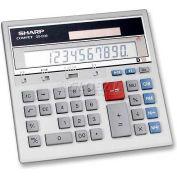 "Sharp® 12-Digit Desktop Calculator, QS2130, Dual Power, 7-1/2"" X 6-7/8"" X 2-2/3"", Grey"