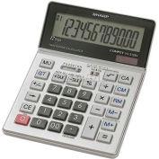 """Sharp® 12-Digit Calculator, VX2128V, Tax Feature, Dual Power, 5"""" X 7"""" X 7/8"""", Grey"""