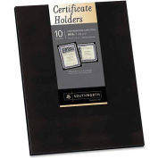 "Southworth® Certificate Holder, PF18, 12"" X 9-1/4"", 10/Pk, Black"