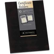 "Southworth® Certificate Holder, PF18, 12"" X 9-1/4"", 10/Pk, Black"