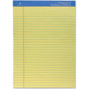 """Sparco Perforated Canary Wide Pad 8-1/2"""" x 11-3/4"""" Ruled 50 Sheets"""