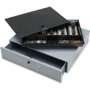 "Sparco Cash Drawer 15504 Removable 10 Compartment Tray , 17-13/16""W x 15-13/16""D x 3-13/16""H, Gray"