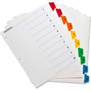 Index Dividers W/Table Of Contents, 1-10, 10 Tabs/ST, Multi