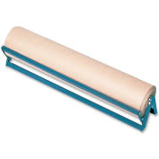 """Wrapping Paper Cutter, Holds 36"""" Rolls, 38""""x8""""x7"""", Brown"""
