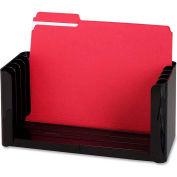 "Folder Holder, 5 Compartment, 12-1/2""-15-1/2""x5-3/8""x6-1/8"", Black"