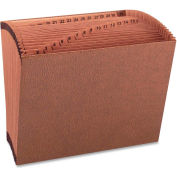 """Accordion Files, No-Flap, 31 Pockets, 1-31, Letter, 12""""x10"""", Brown"""