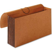 "Accordion Wallets, Legal, 5-1/4"" Exp, 12-3/8""x10"", Brown"