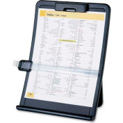 """Document Holder, Curved, Line Guide, 10""""x2-1/2""""x14-3/8"""", Black"""