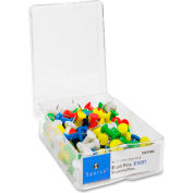 "Sparco Push Pin - 0.37"" Length - 100 / Box - Assorted"