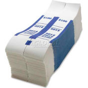 Sparco Color-Coded Quick Stick Currency Band BS100WK $100 in Dollar Bills Blue, 1000 Bands/Pack