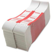 Sparco Color-Coded Quick Stick Currency Band BS500WK $500 in $5 Bills Red, 1000 Bands/Pack