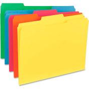 """File Folder, Letter, 11PT, 1/3"""" Exp, 100/Box, Assorted"""
