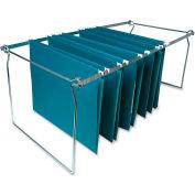 Hanging File Folder Frames, Letter, 6/Box, Stainless Steel
