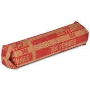 Sparco Flat Coin Wrapper TCW01, $0.50 Pennies Capacity, Price Pack of 1000